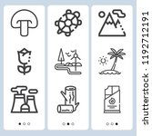 simple set of  9 outline icons... | Shutterstock .eps vector #1192712191