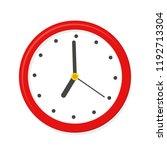 clock icon. flar style   stock... | Shutterstock .eps vector #1192713304