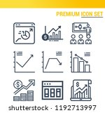 simple set of  9 outline icons... | Shutterstock .eps vector #1192713997