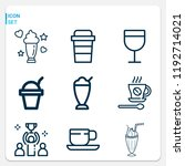 simple set of  9 outline icons... | Shutterstock .eps vector #1192714021