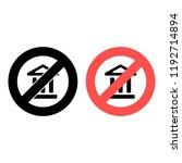 bank ban  prohibition icon....