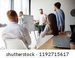 developing new strategy. two... | Shutterstock . vector #1192715617