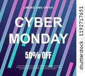 cyber monday sale. vector... | Shutterstock .eps vector #1192717651