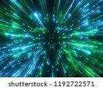 3d render  green sparkling... | Shutterstock . vector #1192722571
