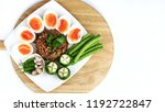 close up top view of thai food... | Shutterstock . vector #1192722847