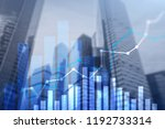 financial growth graph. sales... | Shutterstock . vector #1192733314