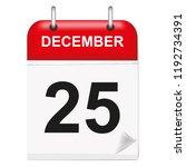 daily single leaf calendar  red ... | Shutterstock .eps vector #1192734391