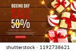 web banner template for boxing... | Shutterstock .eps vector #1192738621