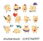 new year 2019 set with...   Shutterstock .eps vector #1192746997