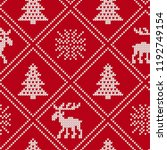 christmas knit geometric... | Shutterstock .eps vector #1192749154