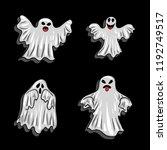 halloween elements   white...   Shutterstock .eps vector #1192749517