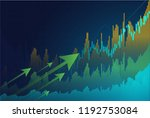 business candle stick graph... | Shutterstock .eps vector #1192753084