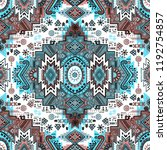 indian rug tribal ornament... | Shutterstock .eps vector #1192754857