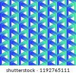 abstract 3d seamless geometric... | Shutterstock .eps vector #1192765111