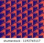 abstract 3d seamless geometric... | Shutterstock .eps vector #1192765117