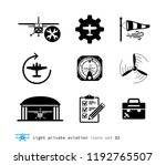 light private aviation icons... | Shutterstock .eps vector #1192765507