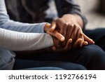 close up black woman and man in ... | Shutterstock . vector #1192766194