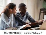 african millennial stressed... | Shutterstock . vector #1192766227