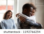 black african happy family... | Shutterstock . vector #1192766254