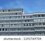 glass facade window office...   Shutterstock . vector #1192769704