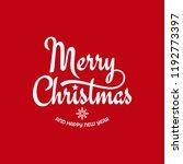 christmas vintage lettering...   Shutterstock .eps vector #1192773397