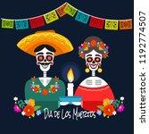 mexican dia de los muertos  day ... | Shutterstock .eps vector #1192774507
