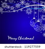 christmas background | Shutterstock .eps vector #119277559
