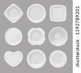 vector dishware. realistic...   Shutterstock .eps vector #1192789201