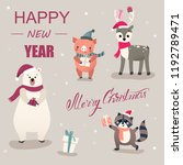 merry christmas and happy new... | Shutterstock .eps vector #1192789471