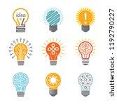 ideas bulb symbols. creative... | Shutterstock .eps vector #1192790227