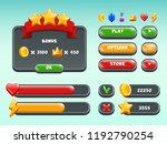games gui set. mobile gaming... | Shutterstock .eps vector #1192790254