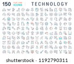 set of vector line icons of... | Shutterstock .eps vector #1192790311