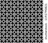 seamless pattern of circles and ... | Shutterstock .eps vector #1192790821