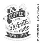 banner of coffee with... | Shutterstock .eps vector #1192796071