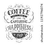 banner of coffee with... | Shutterstock .eps vector #1192796074