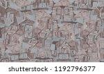 urban modern seamless pattern.... | Shutterstock . vector #1192796377
