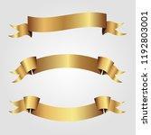 set of golden ribbons vector.   Shutterstock .eps vector #1192803001