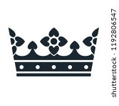 crown icon. simple black and... | Shutterstock .eps vector #1192806547