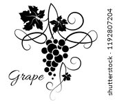 branch of grapes. decorative... | Shutterstock .eps vector #1192807204