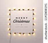 christmas background with...   Shutterstock .eps vector #1192808191