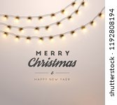 christmas background with... | Shutterstock .eps vector #1192808194