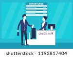 man passenger at international... | Shutterstock .eps vector #1192817404