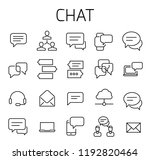 chat related vector icon set.... | Shutterstock .eps vector #1192820464