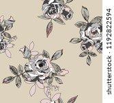 seamless floral pattern.... | Shutterstock .eps vector #1192822594