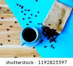 coffee and beans coffee... | Shutterstock . vector #1192825597