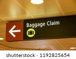 seattle tacoma airport  wa  usa ... | Shutterstock . vector #1192825654