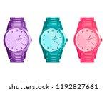 wrist watch. set of three... | Shutterstock .eps vector #1192827661