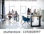 office life. group of young... | Shutterstock . vector #1192828597