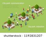 isometric people lifestyle... | Shutterstock .eps vector #1192831207
