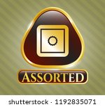 gold shiny emblem with bank... | Shutterstock .eps vector #1192835071